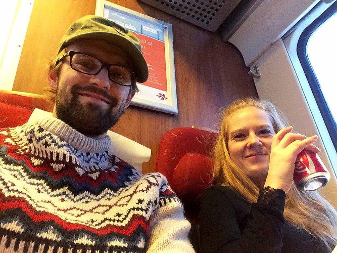 På sporet: Tekstgården tøffer fram og jakter nå på Norges største bloggere. I går var vi nummer 79. Hurra! Foto: Privat