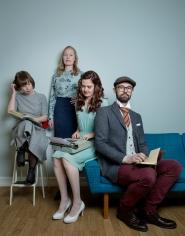 PLASSBYTTE IGJEN: Hanne, Ingrid, Elene og Rune. Foto: Anita Arntzen