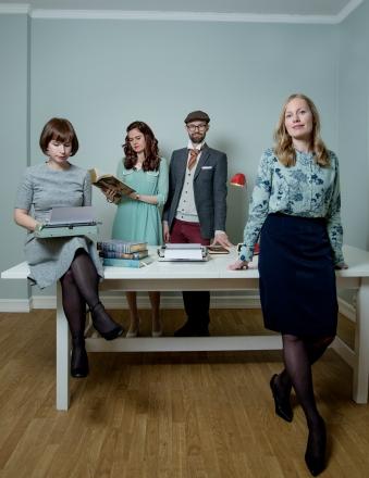 TRENTE MODELLER: Hanne, Elene, Rune og Ingrid. Foto: Anita Arntzen