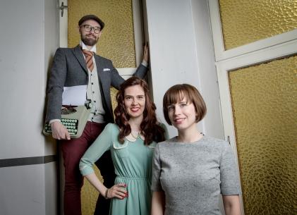 BYRÅET: Rune, Elene og Hanne utgjør Tekstgården AS. Foto: Anita Arntzen