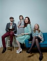 MODELLER FOR EN DAG: Rune, Hanne, Elene og Ingrid. Foto: Anita Arntzen